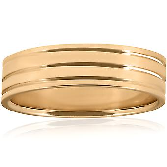 Poliert Ehering 10K Gelb Gold