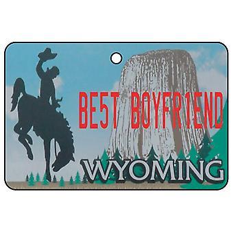 Wyoming - Best Boyfriend License Plate Car Air Freshener