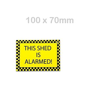 Solon This Shed Is Alarmed Sticker (100 X 70mm)