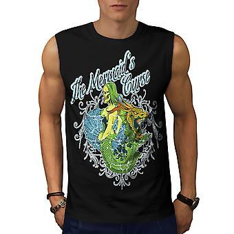 Meerjungfrau Zombie Horror Männer BlackSleeveless T-shirt   Wellcoda