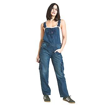 USKEES DAISY Women's Vintagewash Dungarees Relaxed fit Roll-up leg overalls