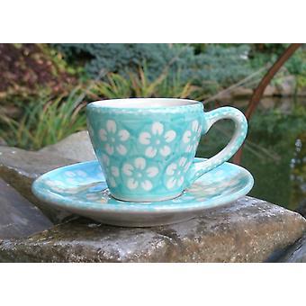 Espresso Cup & saucer, 2. w., Bolesławiec menta, BSN J-927