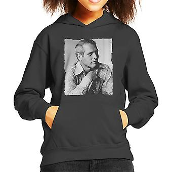 Paul Newman 1971 Kid's Hooded Sweatshirt