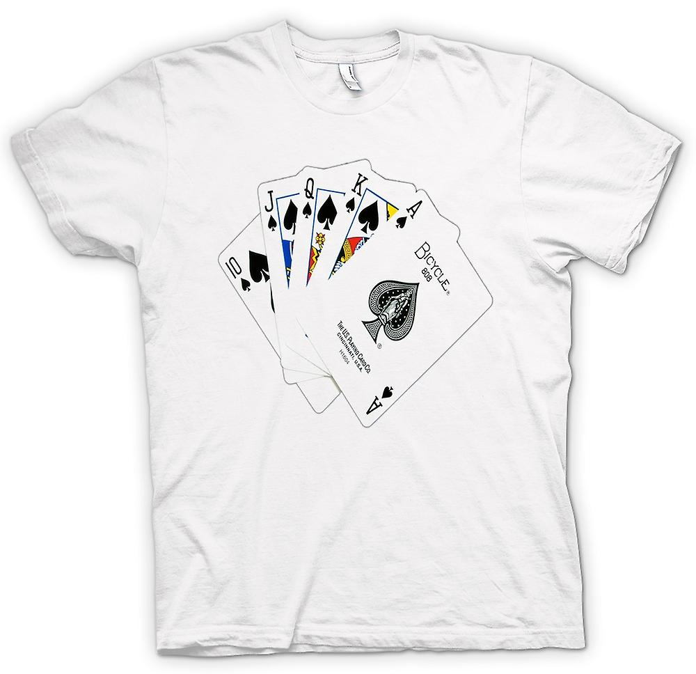 Womens T-shirt - Poker Royal Flush