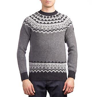 Moncler mænds uld Argyle Herre Sweater grå