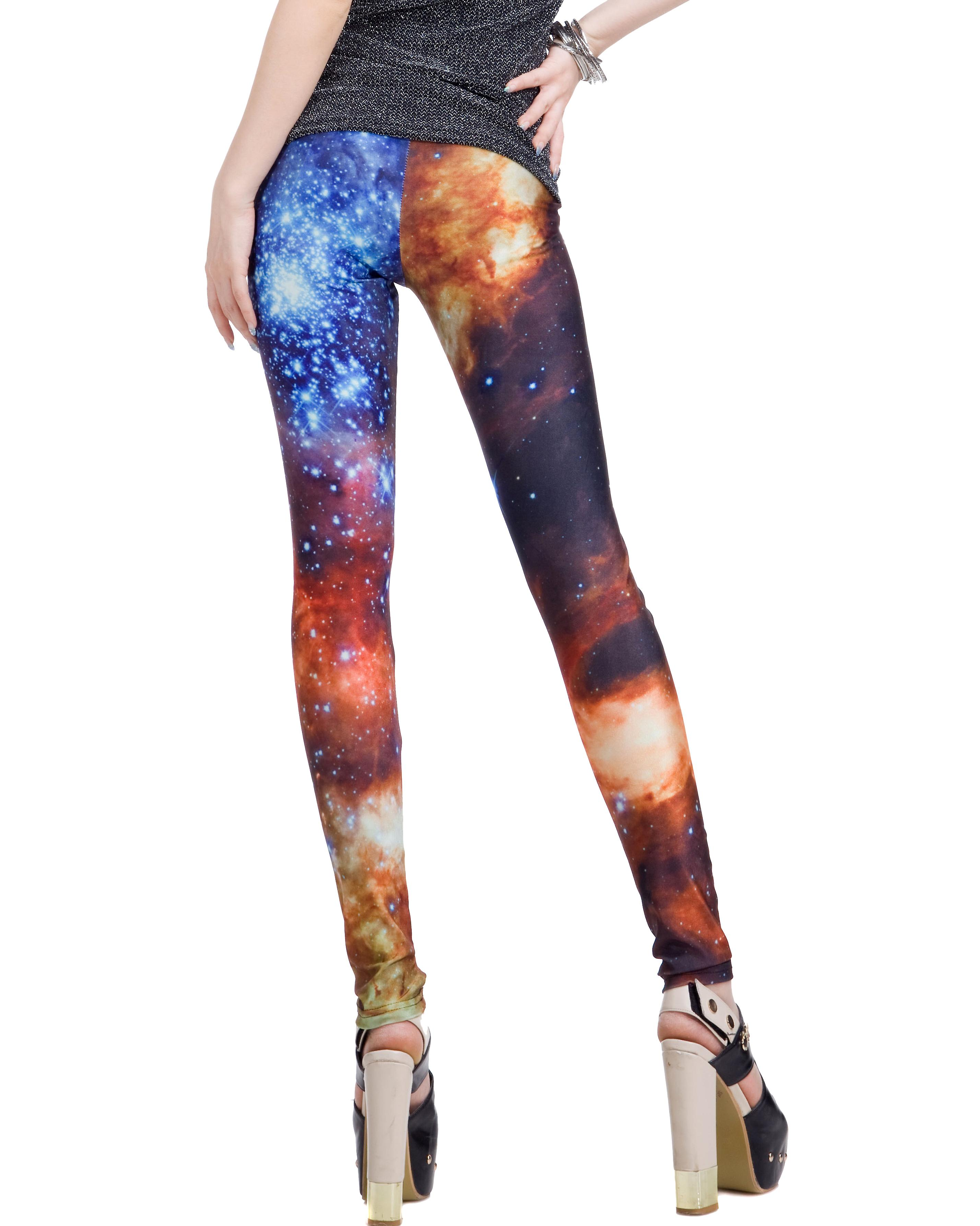 Waooh - Fashion - Leggings long fantasy - Blue Stars