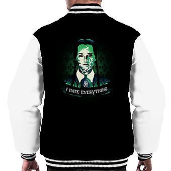 Addams Family onsdag Addams jeg hater alle menn Varsity jakke