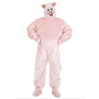 Plush Pig Costume (Costume Gloves Shoe Covers Mask)