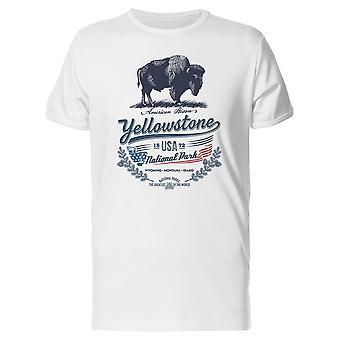 Bison américain Yellowstone Tee homme-Image de Shutterstock