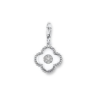s.Oliver jewel ladies charm flowers silver cubic zirconia SOCHA/242-508841