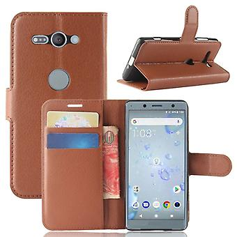 Pocket wallet premium Brown for Sony Xperia XZ2 Compact / Mini protection sleeve case cover pouch new