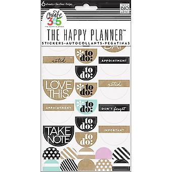 Create 365 Happy Planner Stickers 6/Sheets -To Do, Neutral