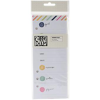 Carpe Diem Fitness Double-Sided A5 Bookmark Tablet-Punched Daily Tracker W/24 Sheets