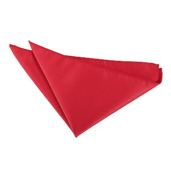 Punainen Solid Tarkista Pocket Square