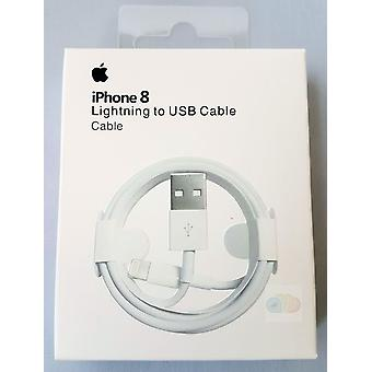 Original blister Apple MD818ZM/A lightning charge cable, iPhone 5 / 5 s / SE, 2 x Matt screen protector