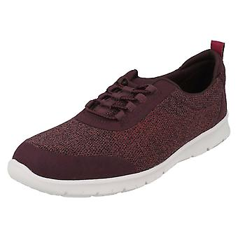 Ladies Clarks Elasticated Fastener Sports Trainers Step Allena Bay