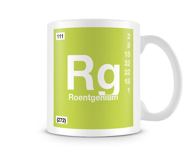 Element Symbol 111 Rg - Roentgenium Printed Mug