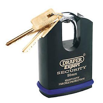 Draper 64197 Expert 50mm Heavy Duty Padlock And 2 Keys With Shrouded Shackle
