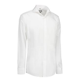 ID Womens/Ladies Poplin Shirt Tuxedo Long Sleeve Slim Fit