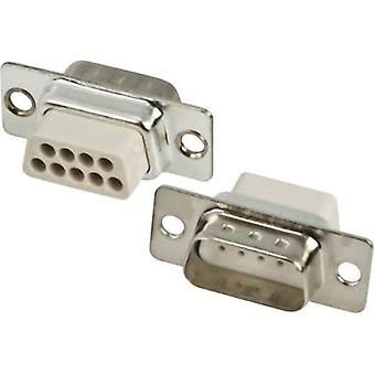 MH Connectors MHDBC09SP-NW D-SUB pin strip 180 ° Number of pins: 9 Crimp 1 pc(s)