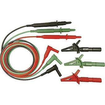 Safety test lead et [4 mm plug - Test probe] 1.5 m Green, Red, Black Cliff CIH29916