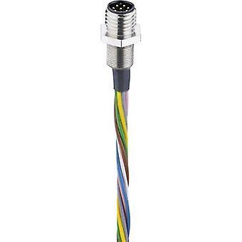Belden 000091740 Sensor/actuator built-in connector M8 Plug, mount 0.50 m No. of pins (RJ): 8 1 pc(s)
