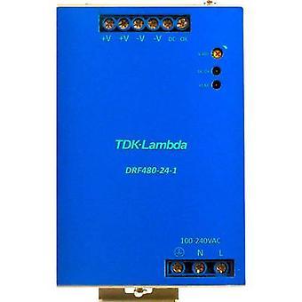 Rail mounted PSU (DIN) TDK-Lambda DRF-480-24-1 24 Vdc 480 W 1 x