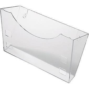 Helit Brochure holder H6103002 Glassy 240 mm x 165 mm x 105 mm