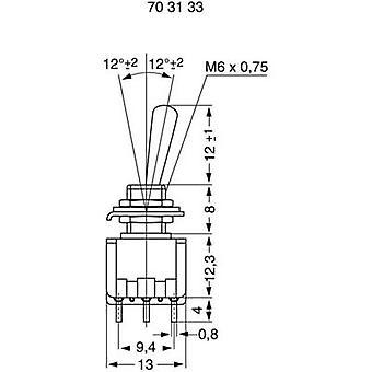 Miyama MS 500-M-BC Toggle switch 125 V AC 6 A 3 x On/On latch 1 pc(s)