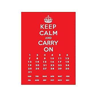 Keep Calm & Carry On Metal Everlasting Calendar