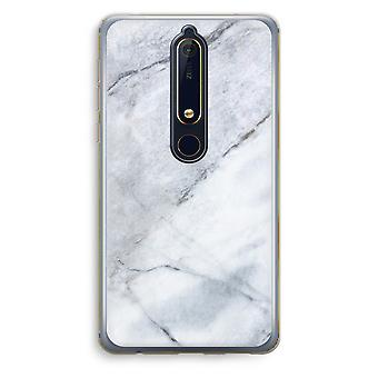 Nokia 6 (2018) Transparent Case (Soft) - Marble white