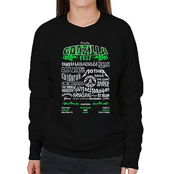 Godzilla Fest Poster Women's Sweatshirt
