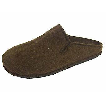 Coolers Mens Plain Microfleece Twin Gusset Mule Slippers - Brown - 10 UK