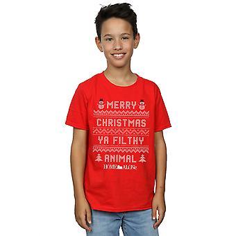 Home Alone Boys Filthy Animal Knit Style T-Shirt