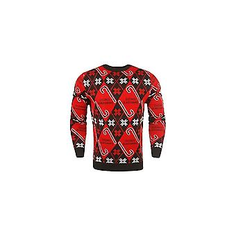 Forever Collectibles Nhl Chicago Blackhawks Candy Cane Ugly Sweater