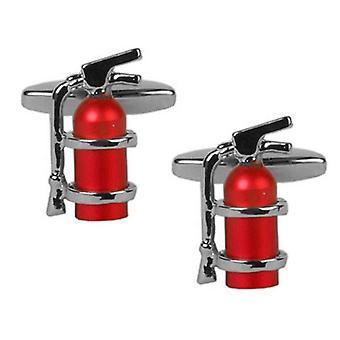 Zennor brandblusser Manchetknopen - zilver/rood
