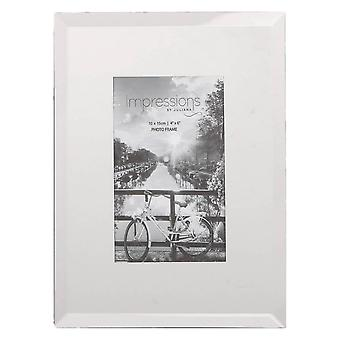 Juliana Impressions Glass Plain Design Photo Frame 4x6 - Clear