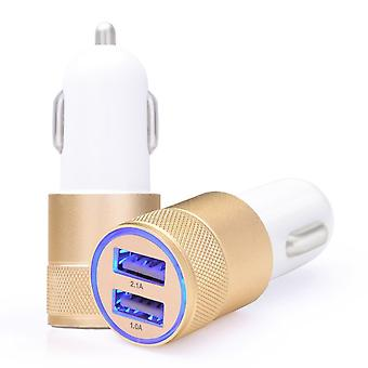 Universal Dual USB car charger 2.1 A with LED light