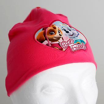 爪子巡逻粉红色儿童帽