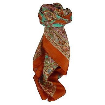 Шелковица шелка традиционными квадратный шарф Fulki терракота, пашмины & шелка