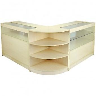 Virgo Maple Shop Counter & Retail Display Set