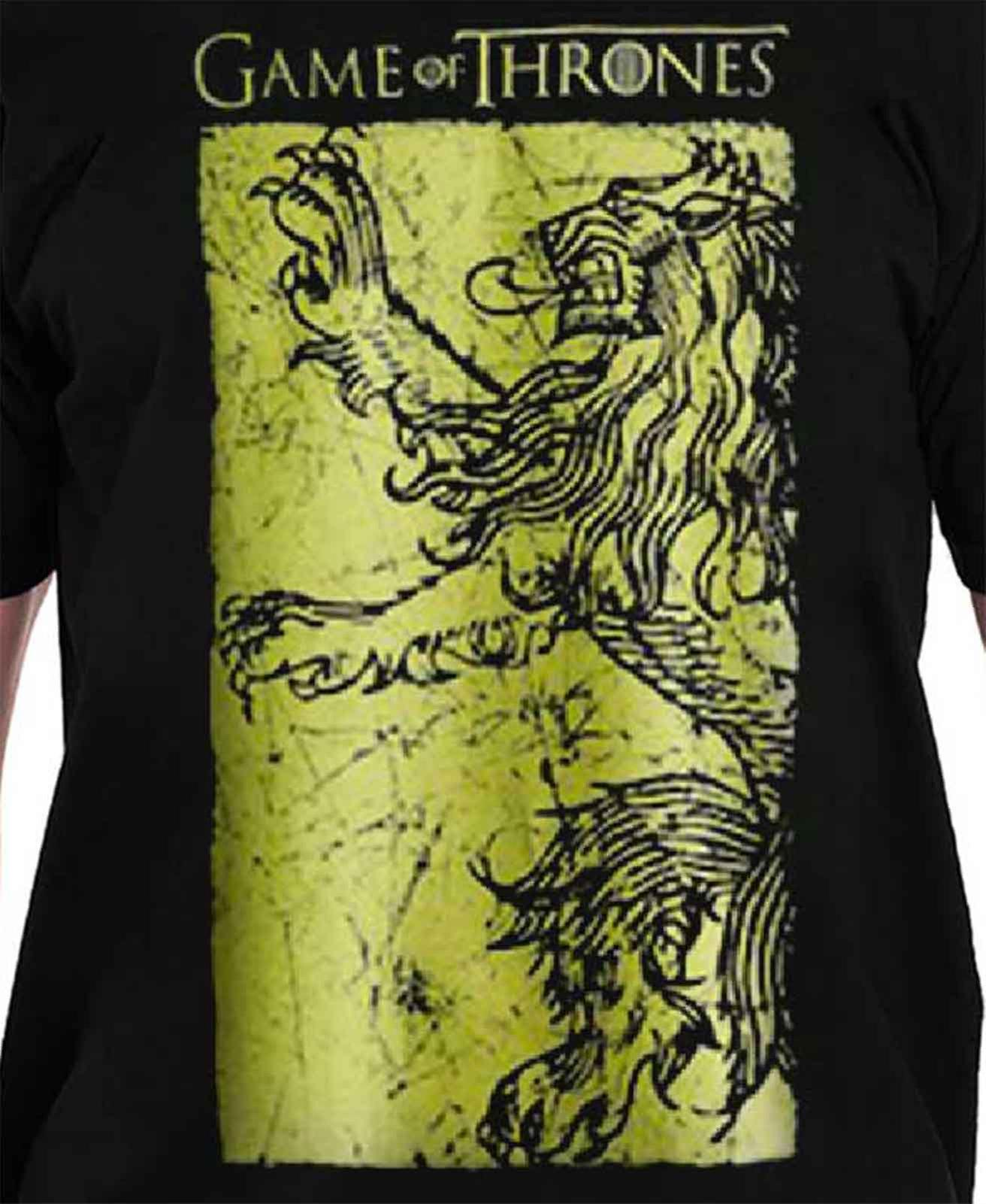 Game Of Thrones T Shirt Lannister Riese Gold Emblem Offizielle