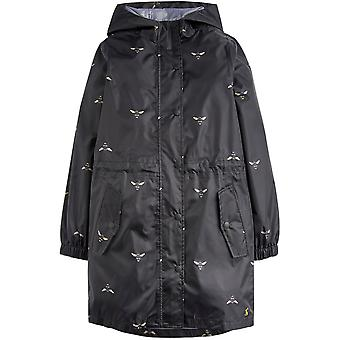 Joules Girls Golightly Long Length Hooded Waterproof Coat
