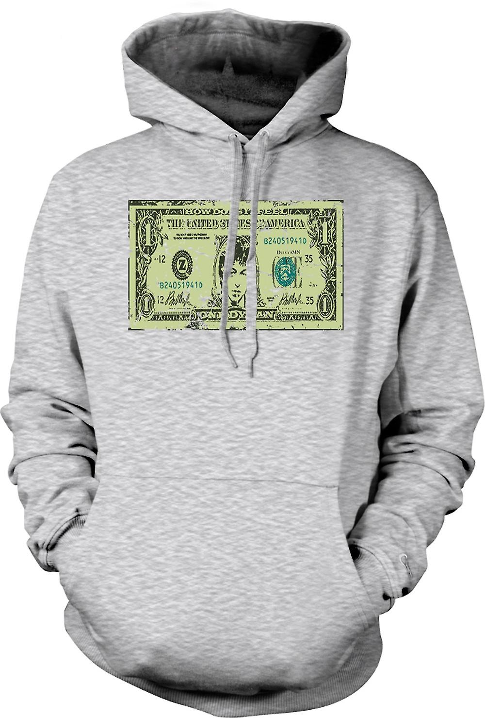 Mens Hoodie - Bob Dylan One Dylan - Funny