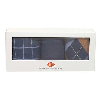H J Hall Socks Gift Pack HJ307 Navy