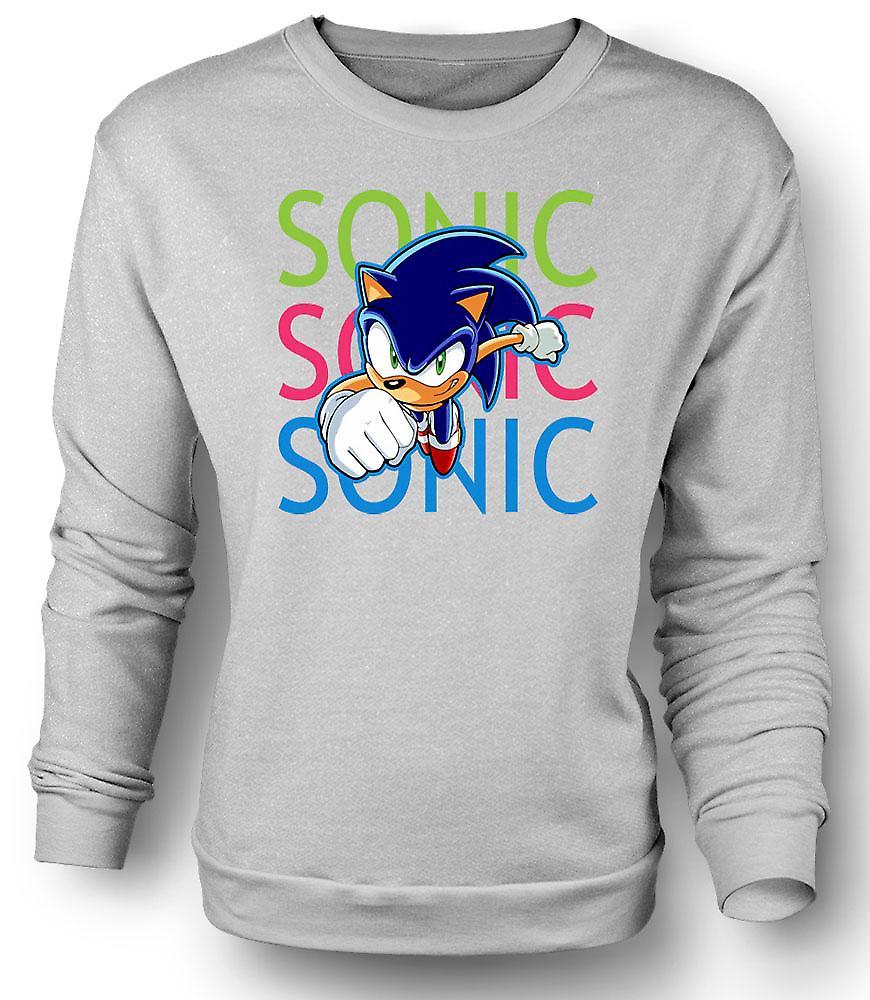 Mens Sweatshirt Sonic der Igel - Spieler