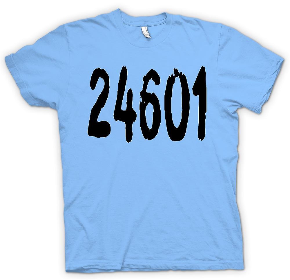 Mens T-shirt - 24601 - cyrielle Valjean matricule