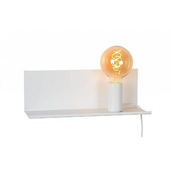 Lucide Sebo Modern Rectangle Metal White Bedside Lamp