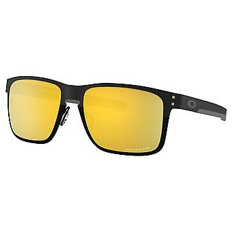 Oakley OO4123 20 Polished Black Holbrook Metal Square Sunglasses Polarised Lens Category 3 Lens Mirrored Size 55mm