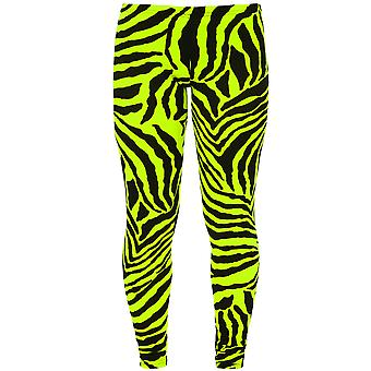 Childrens Animal Leopard hell Neon Leuchtstofflampen Zebra Drucken Stretch Leggings